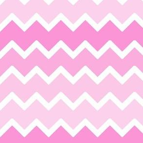 Pink Chevron Ombre Fade Zigzag
