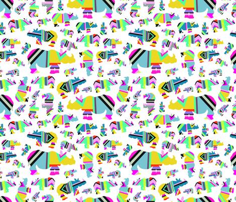 White Rhino fabric by cneray on Spoonflower - custom fabric