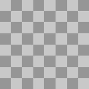 Checkerboard Grey - 1""