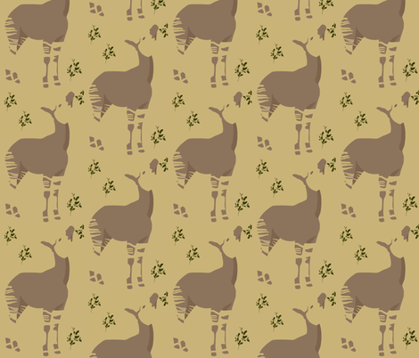 okapi looking up fabric by jennfuquay on Spoonflower - custom fabric
