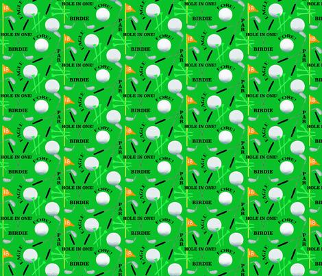 Golf on Green fabric by lauriekentdesigns on Spoonflower - custom fabric