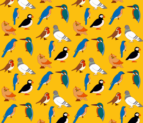Bird Medley fabric by dreams_and_whimsy on Spoonflower - custom fabric