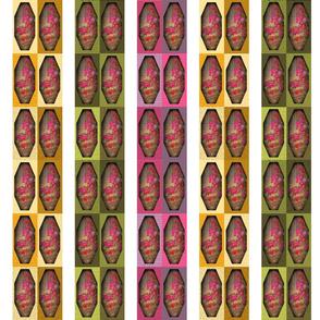 Bougainvillea Vases on Rose Sage Gold - striped