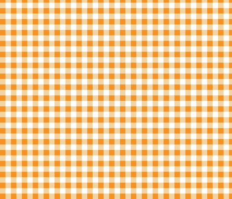 "Gingham Orange 1/2"" - 2 fabric by tinag on Spoonflower - custom fabric"