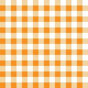 "Gingham Orange 1/2"" - 2"