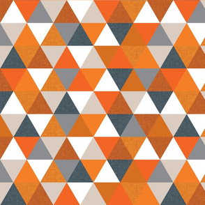slate + orange triangles