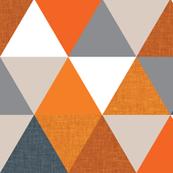 slate + orange triangle wholecloth