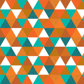 teal + orange triangles