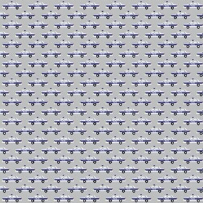 (micro scale) police car fabric - light grey