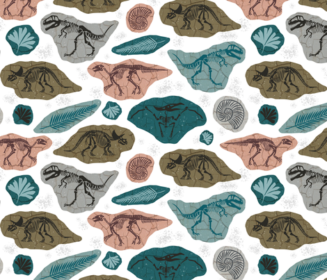 Fossilized fabric by heatherdutton on Spoonflower - custom fabric