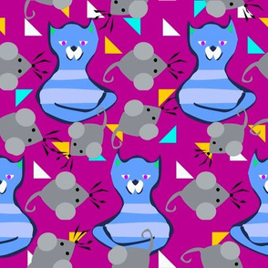 Cats and Mice purple