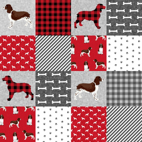 english springer spaniel pet quilt a cheater quilt collection