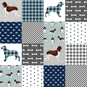 english springer spaniel pet quilt b cheater quilt collection