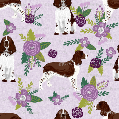 english springer spaniel pet quilt c collection coordinate floral
