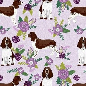 english springer spaniel pet quilt c collection coordinate floral