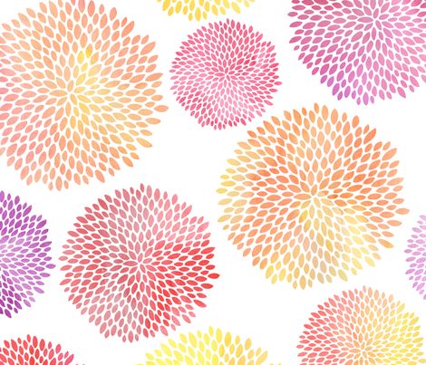 Watercolor floral fabric by jessica_clohesy on Spoonflower - custom fabric