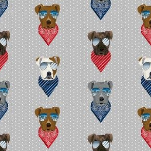 pitbull sunglasses summer bandana dog breed fabric grey