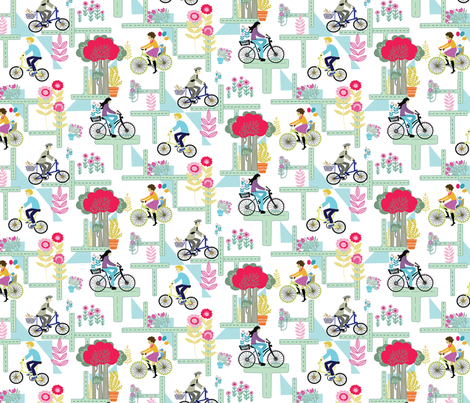 bicycle tile fabric by yd-_designs on Spoonflower - custom fabric