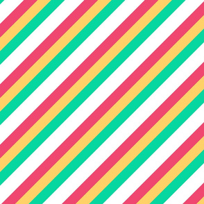 Candy Inclined Stripes