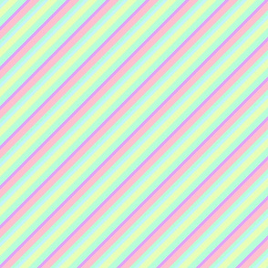 Pastel Tones Inclined Stripes