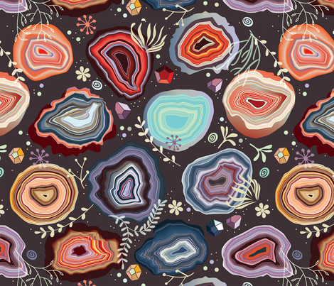 Colorful agates fabric by camcreative on Spoonflower - custom fabric