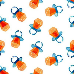 candy ring - orange and blue - sweets