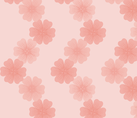 Cranesbill Chain: Rose Gold Geraniums fabric by dept_6 on Spoonflower - custom fabric
