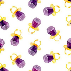 candy ring - purple - sweets