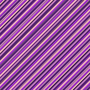 Lilac Purple Violet Inclined Stripes