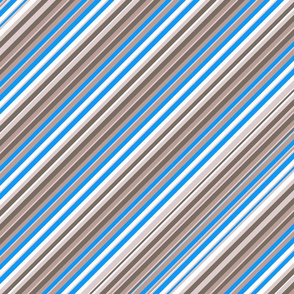 Blue Grey White Inclined Stripes