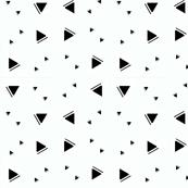 Black triangles on wispy blue