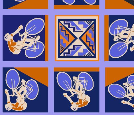 Arizona Tour de Tucson  fabric by vagabond_folk_art on Spoonflower - custom fabric