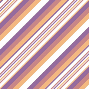 Orchid Indigo Beige Inclined Stripes