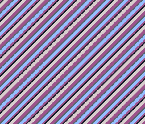 Light Lilac Blue Inclined Stripes fabric by sanches812 on Spoonflower - custom fabric