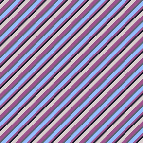 Light Lilac Blue Inclined Stripes