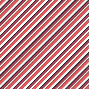 Red Inclined Stripes