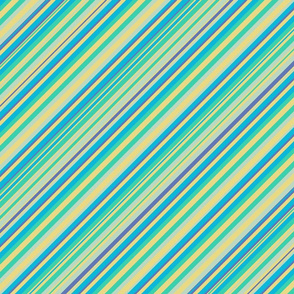Lime Inclined Stripes