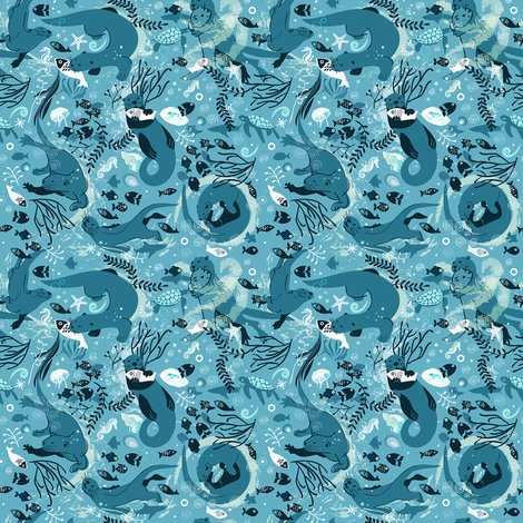 From one otter to another | small fabric by camcreative on Spoonflower - custom fabric