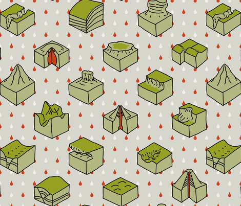 geological diagrams fabric by mongiesama on Spoonflower - custom fabric