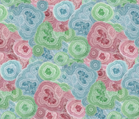 Geodes multicolor fabric by ruthjohanna on Spoonflower - custom fabric
