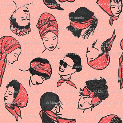Women In Head Scarves XS
