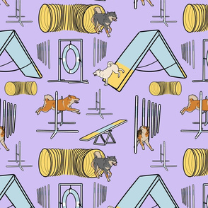 Simple Shiba Inu agility dogs - purple