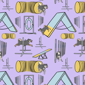 Simple Shiba Inu agility dogs B - purple