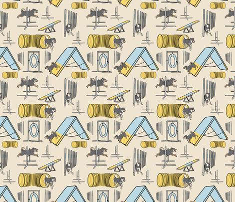 Simple Shiba Inu agility dogs B - small tan fabric by rusticcorgi on Spoonflower - custom fabric