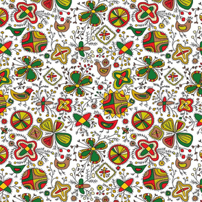 Ethno Print From Estonia Folk
