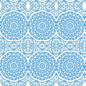 Woven Raffia Mats on Mosaic Tiles - Small Scale