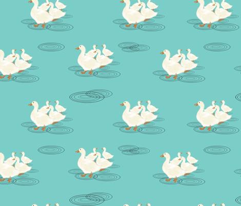 duckspuddlesrepeat fabric by amy_hadden on Spoonflower - custom fabric
