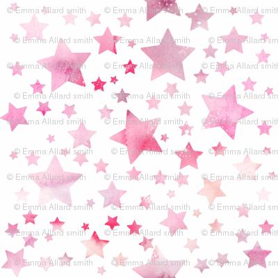 Stars - watercolour pink