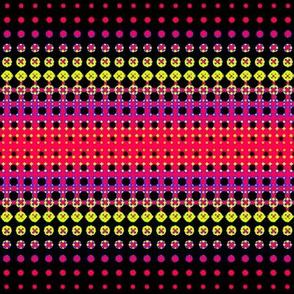 Dark Halftones Yellow/Red