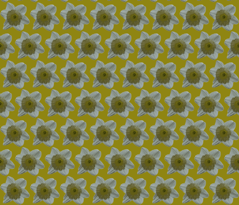 Daffodil on Gold Large Scale 1-ch fabric by betz on Spoonflower - custom fabric